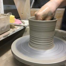 pot throwing